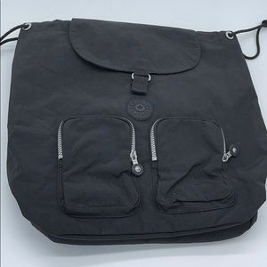 Kipling Nylon Black Backpack with drawstring